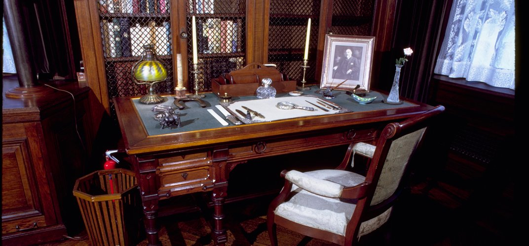 Franklin Roosevelt's private library at Hyde Park