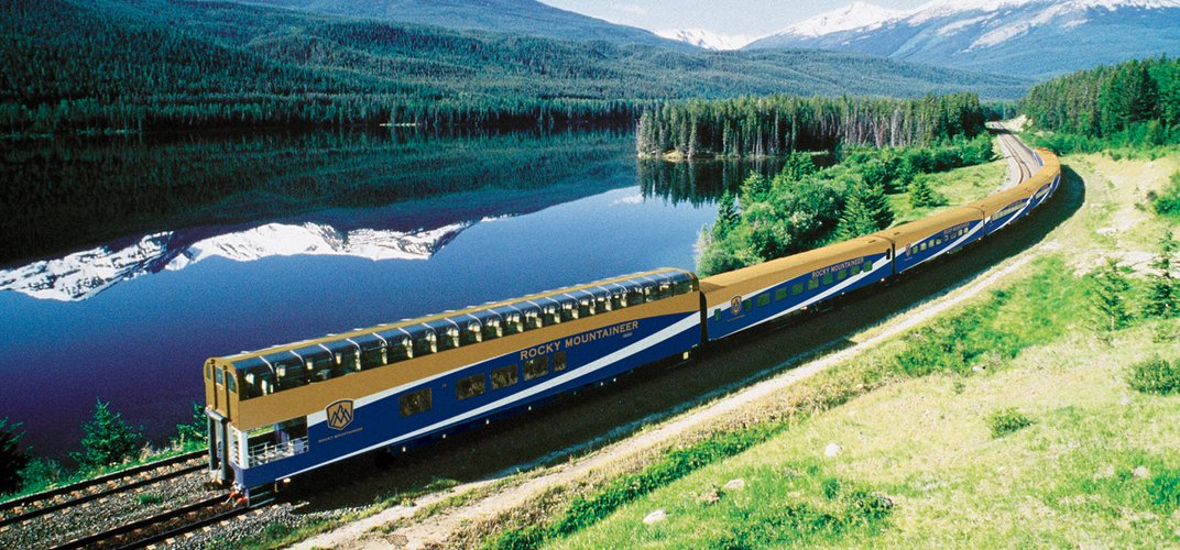 The observation car of the <i>Rocky Mountaineer</i>