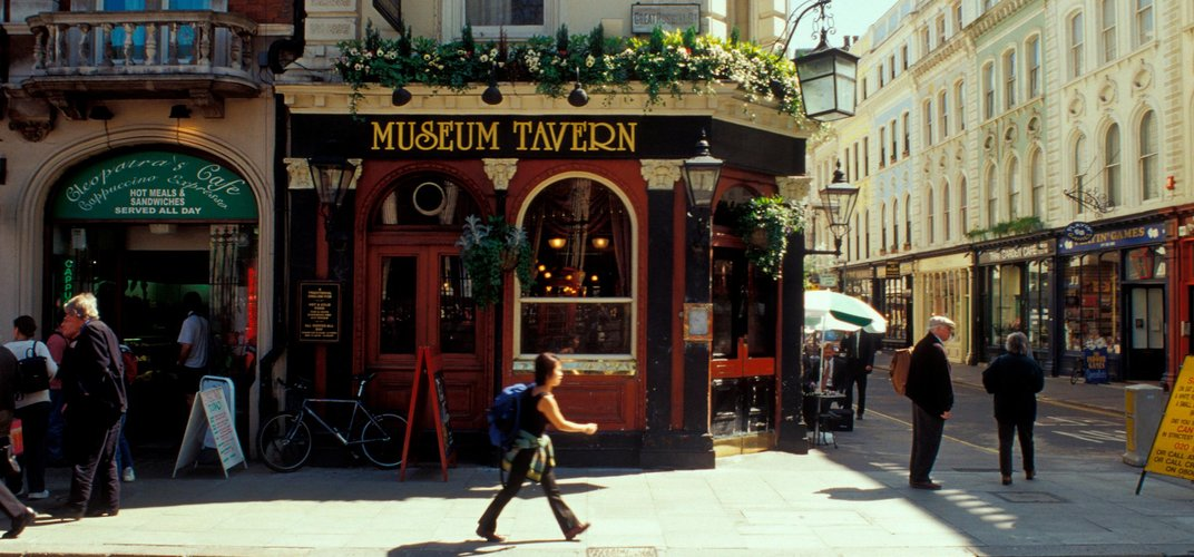 Typical pub on Great Russell Street, London. Credit: London On View