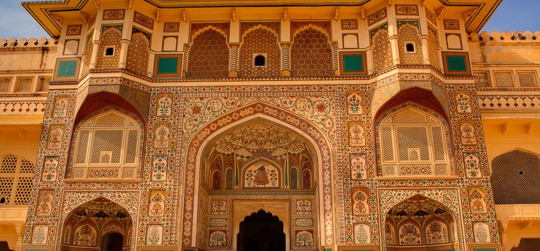 Detail of architecture at Jaipur's Amber Palace