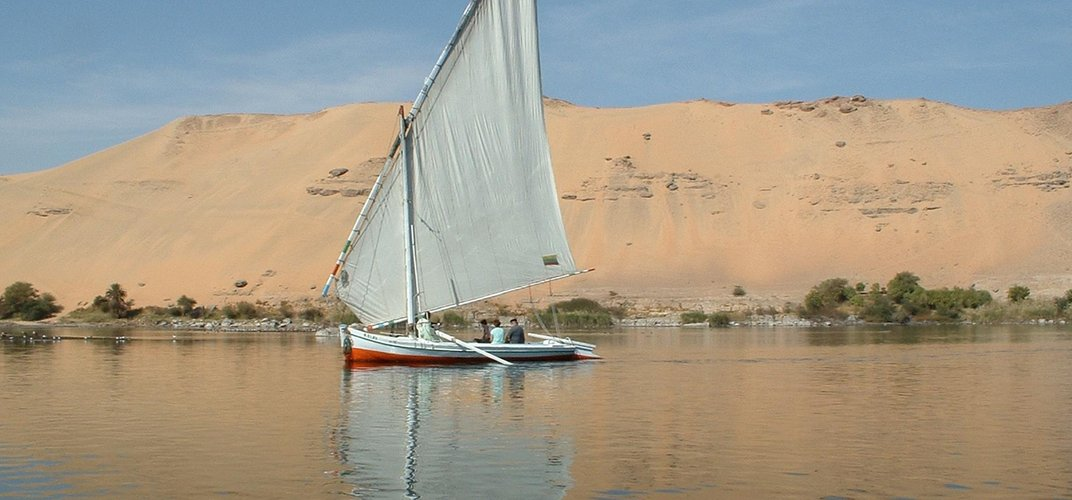 Traditional felucca on the Nile