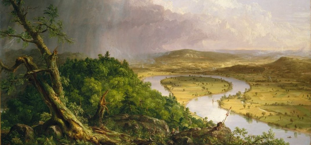 <i>View from Mount Holyoke</i> by Hudson River School artist Thomas Cole, Metropolitan Museum of Art. Credit: Metropolitan Museum of Art