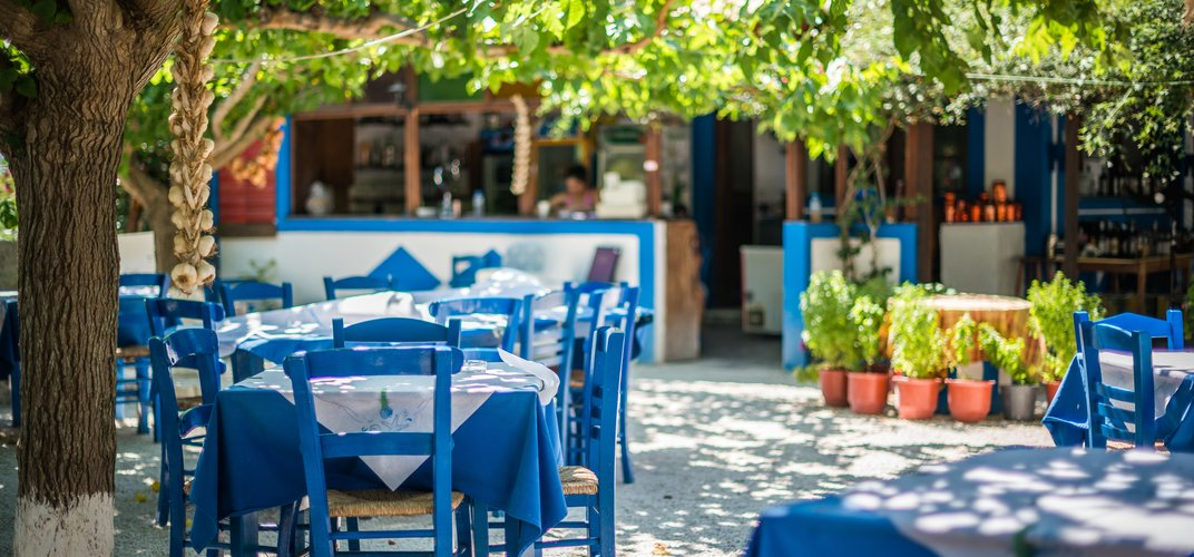 Typical Greek island taverna