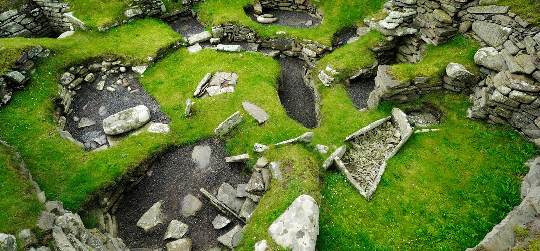 The archaeological site of Jarlshof on the Shetland Islands. Credit: National Geographic Image Collection/Alamy