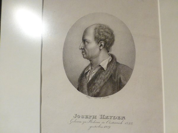 A sketch of Haydn without his wig (John Tindale)