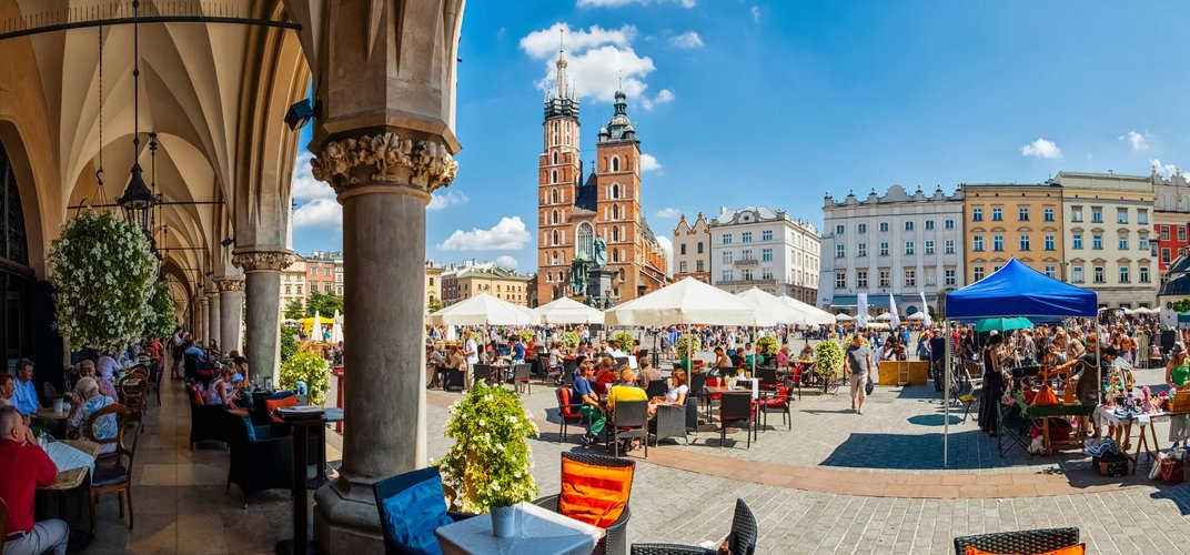 Krakow's engaging main square