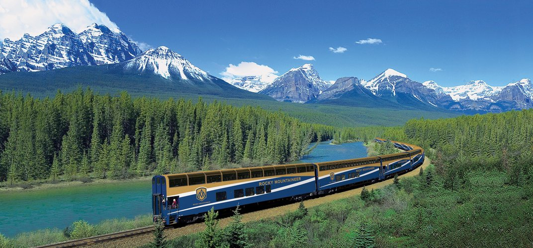 The <i>Rocky Mountaineer</i> in the Canadian landscape