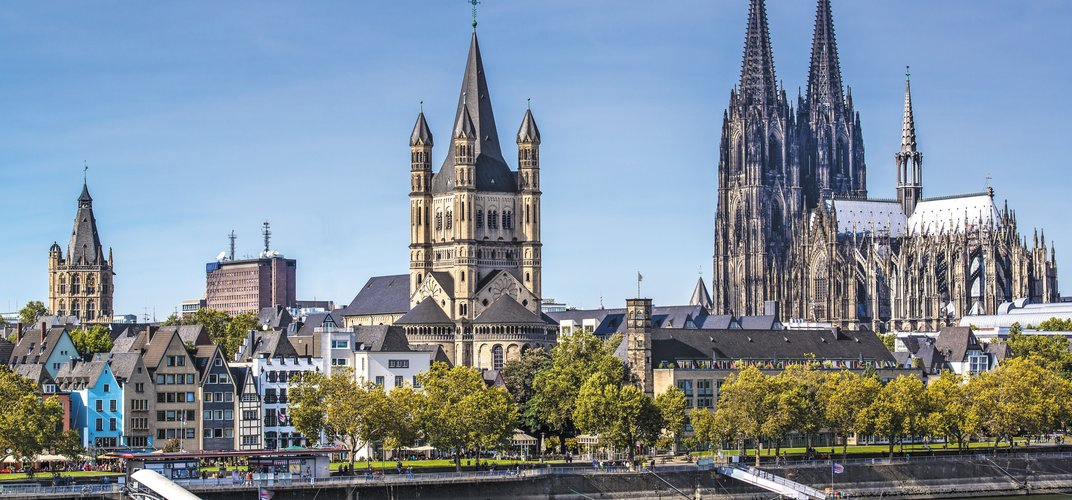 City of Cologne, showcasing the High Gothic cathedral