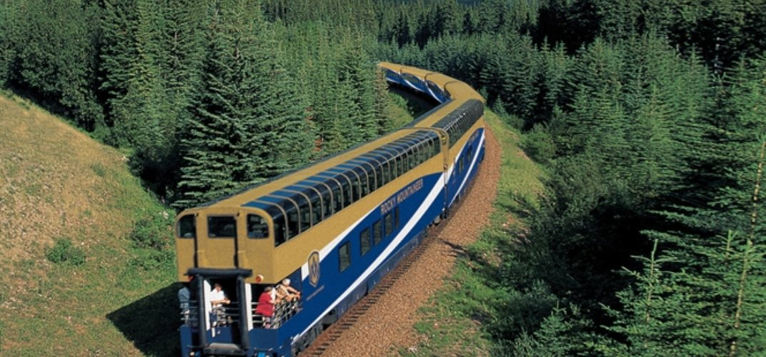 Observation car of the <i>Rocky Mountaineer</i>