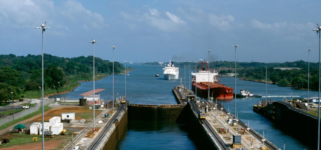 One of the many locks of the Panama Canal