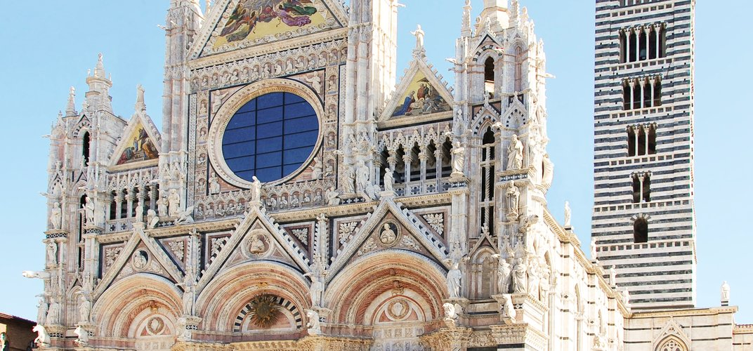 The distinctive architecture of Siena Cathedral