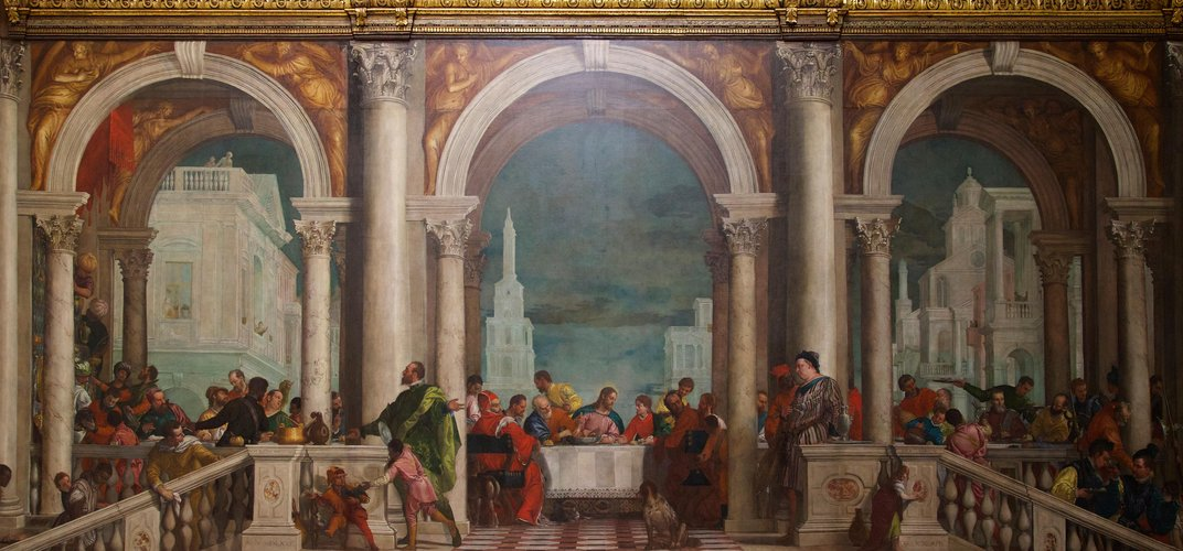 Fresco by Veronese seen at the Accademia in Venice. Credit: Peter Barritt/Alamy