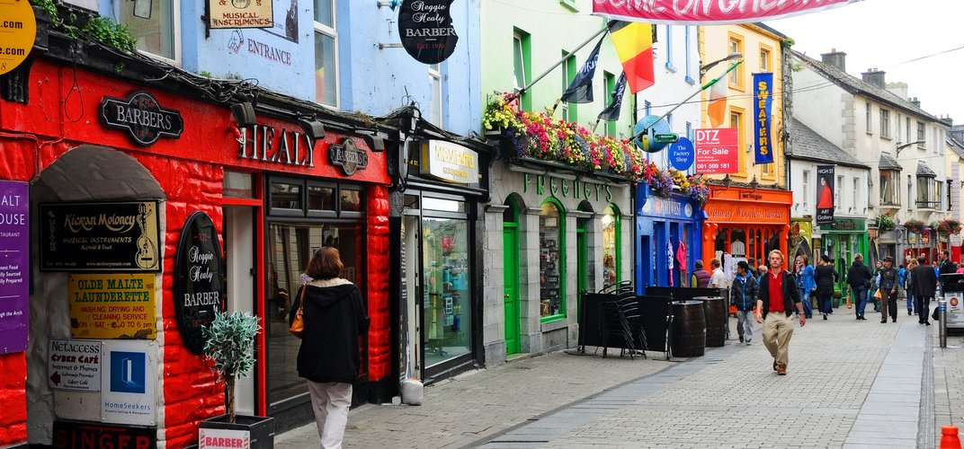 The lively streets of Galway