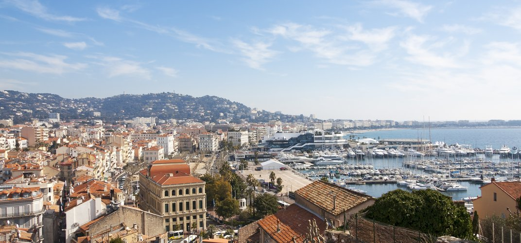 View of Cannes from Le Suquet Historic District