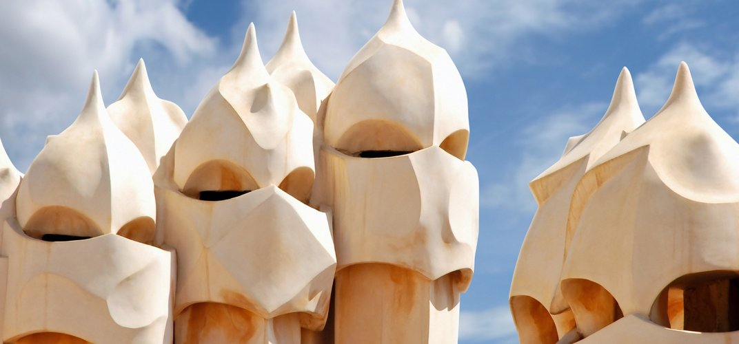 Chimneys on Gaudi's Casa Mila