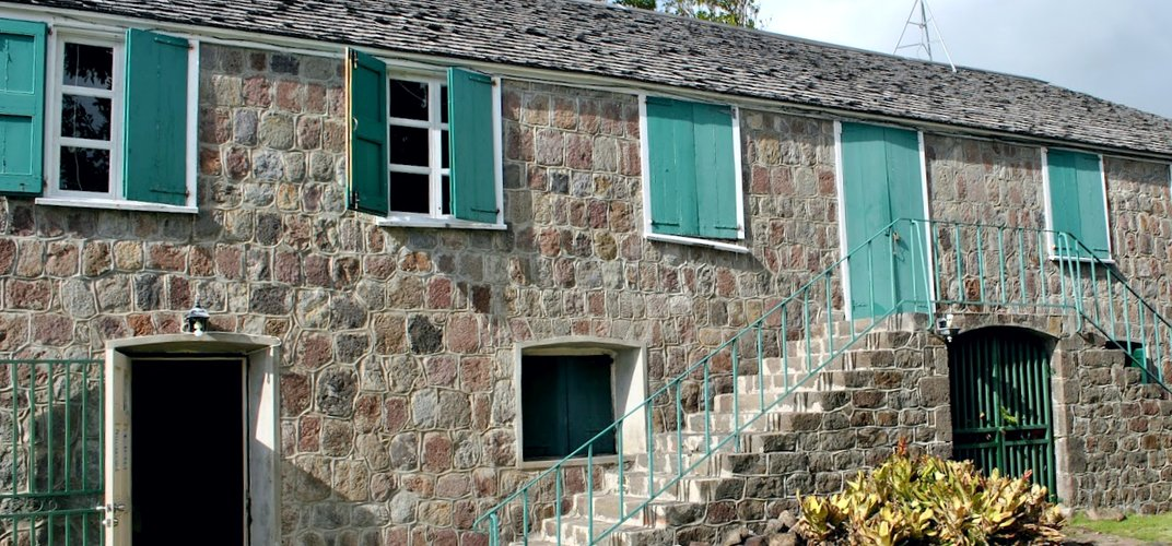 Alexander Hamilton's birthplace in Charlestown on the island of Nevis