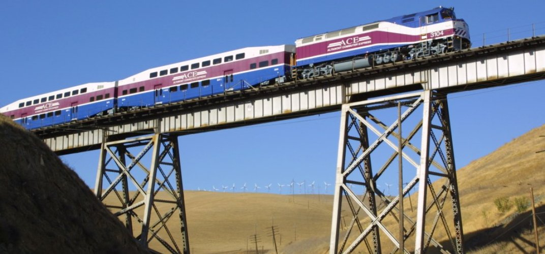 ACE Train on Altamont Pass. Credit: Nathan D. Holmes