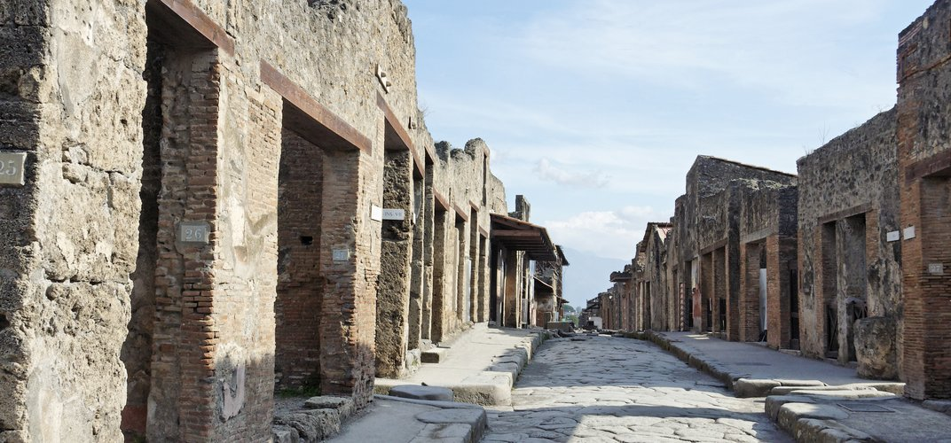 Typical street in Pompeii
