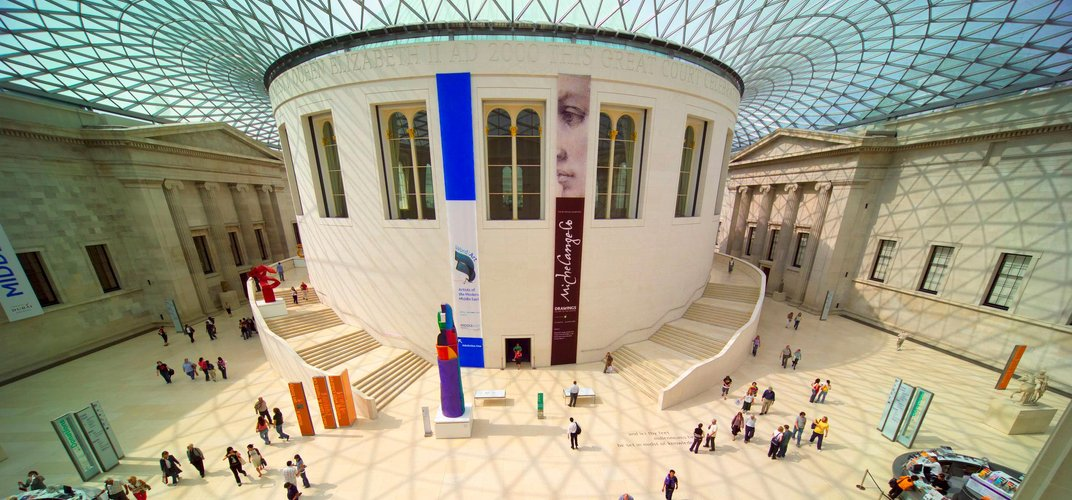 The courtyard of the British Museum. Credit: London On View