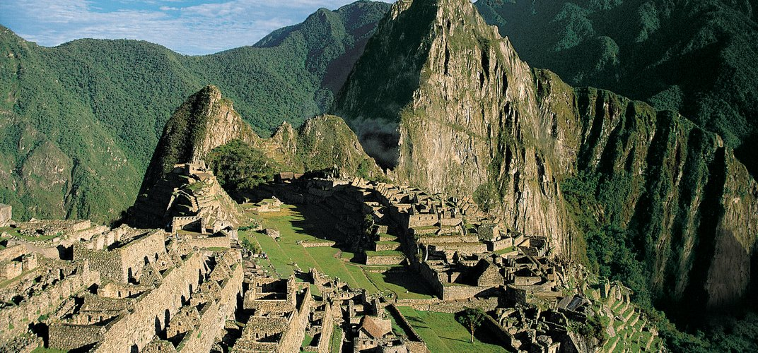 The World Heritage site of Machu Picchu