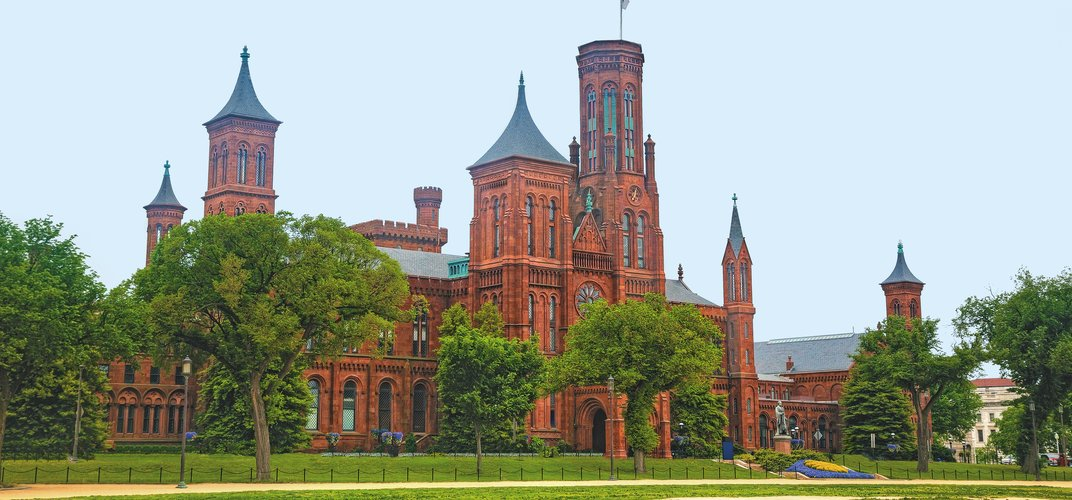 The iconic Smithsonian Castle