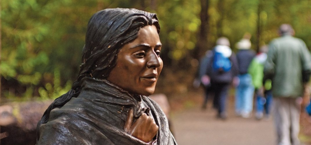 Statue of Sacagawea at Fort Clatsop. Credit: Marc Cappelletti