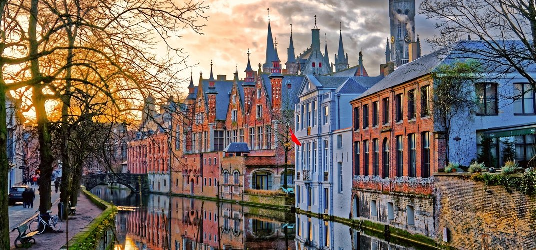 Canal in charming Bruges
