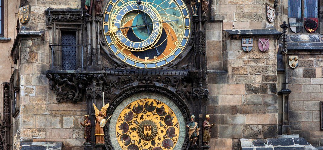 The medieval astronomical clock, Old Town Square, Prague