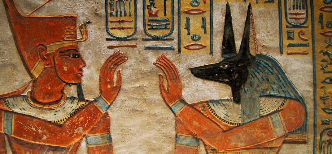 Wall decoration in tomb in the Valley of the Queens. Credit: Egyptian Tourism