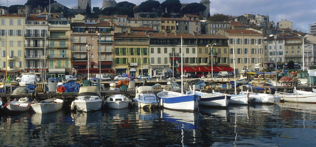 Waterfront in the Old City of Cannes