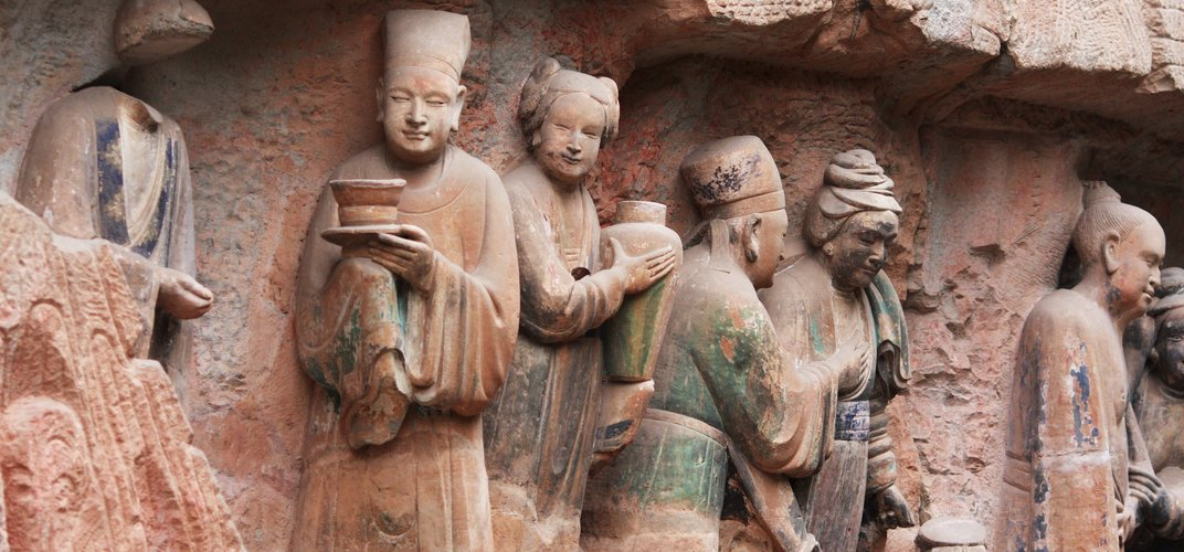Detail of the Dazu Rock Carvings, a World Heritage site