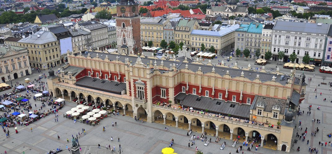 Krakow's Main Square and the Renaissance Cloth Hall