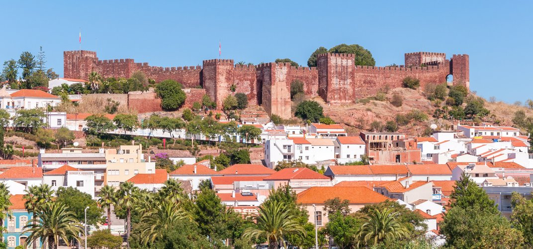 The medieval town of Silves, in the Algarve region of Portugal