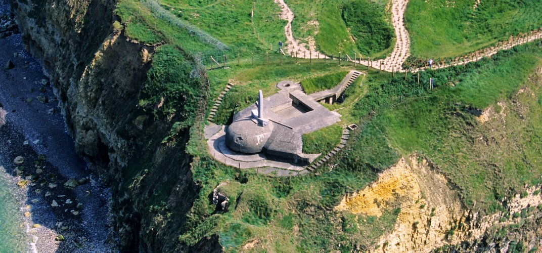 Normandy's Pointe du Hoc. Credit: Hemis/Alamy