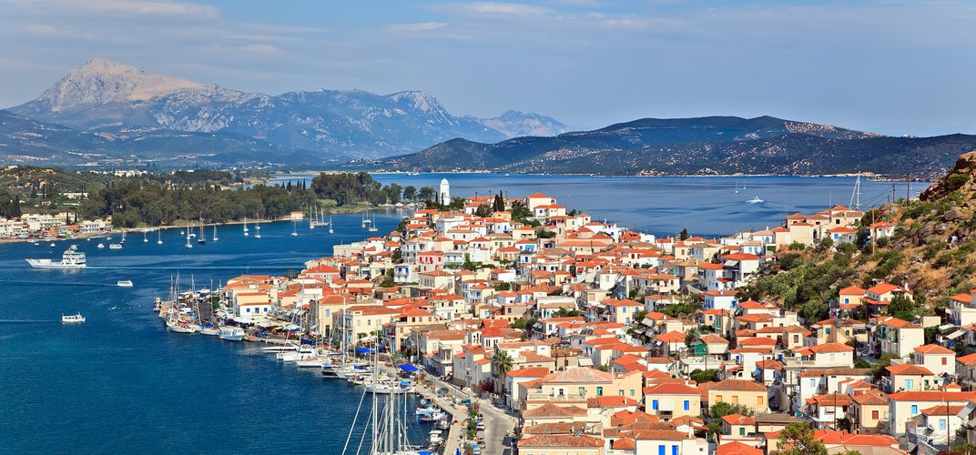 The main town on the Greek island of Poros