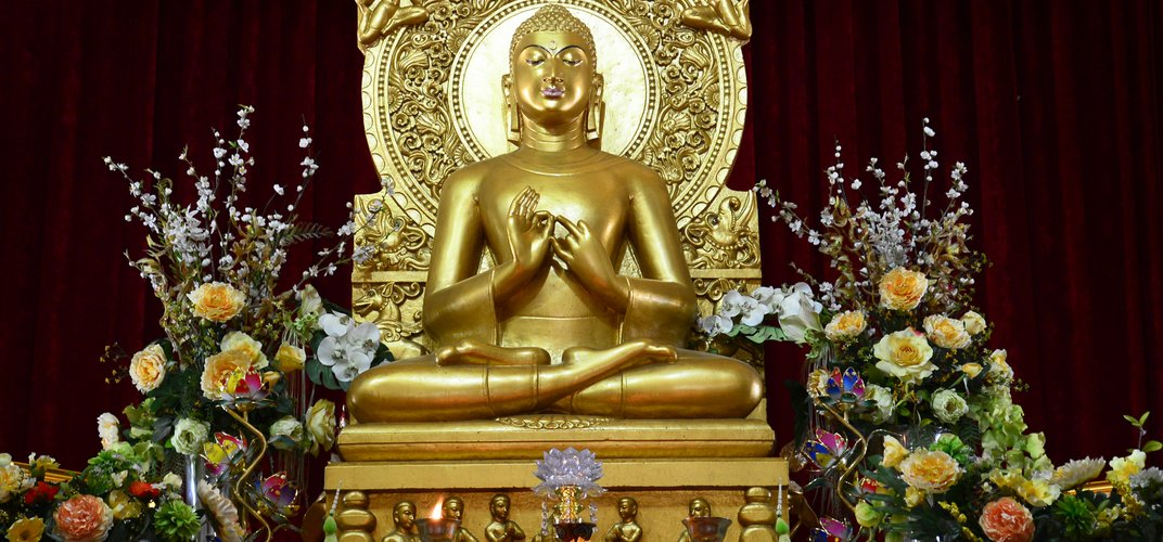 Statue of Buddha at Sarnath, one of Buddhism's four holiest sites