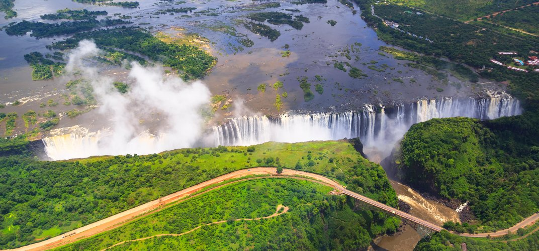 The powerful and dramatic Victoria Falls